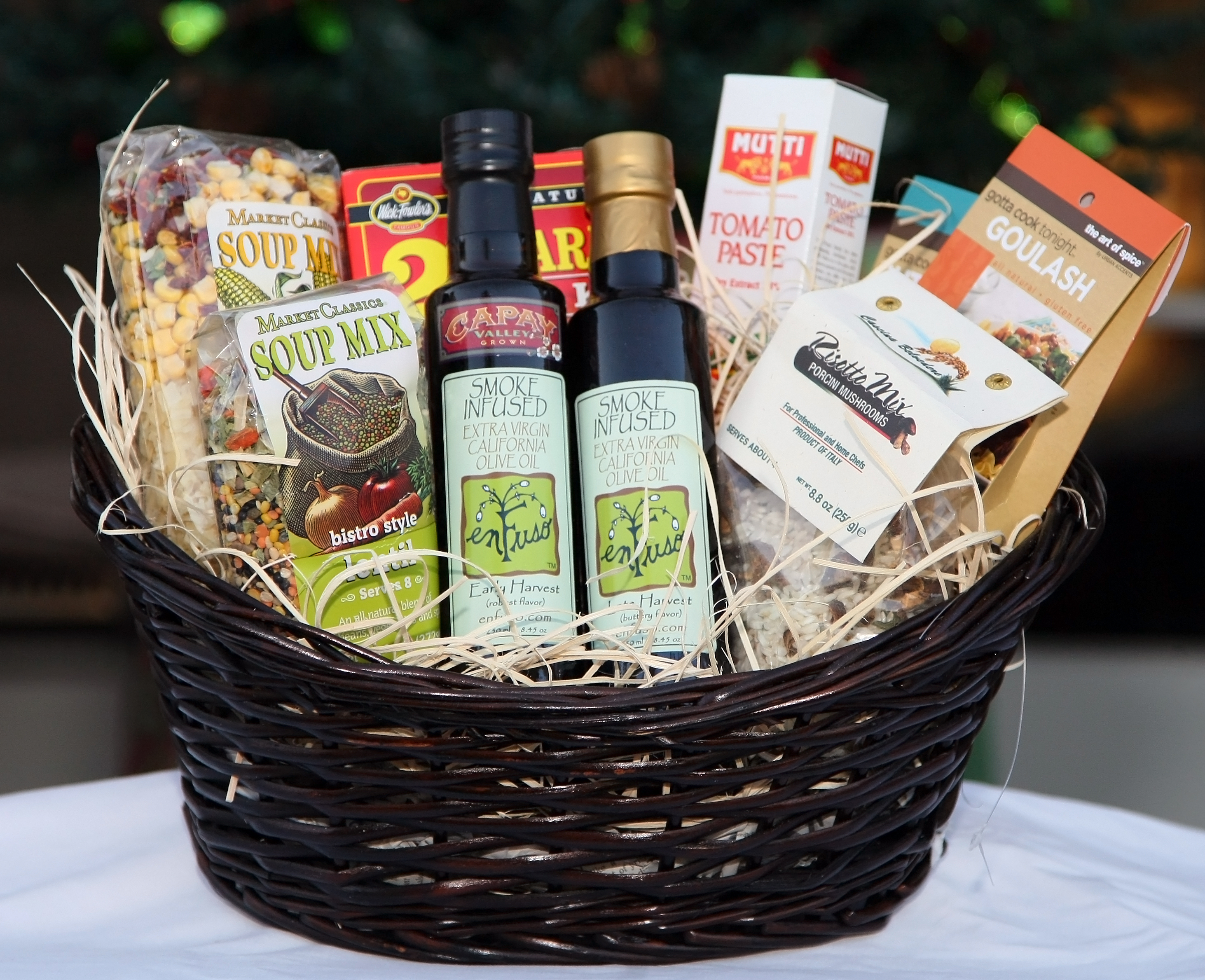 Kitchen Present Enfuso Smoked Olive Oil Gift Basket Giveaway Texas Kitchen And