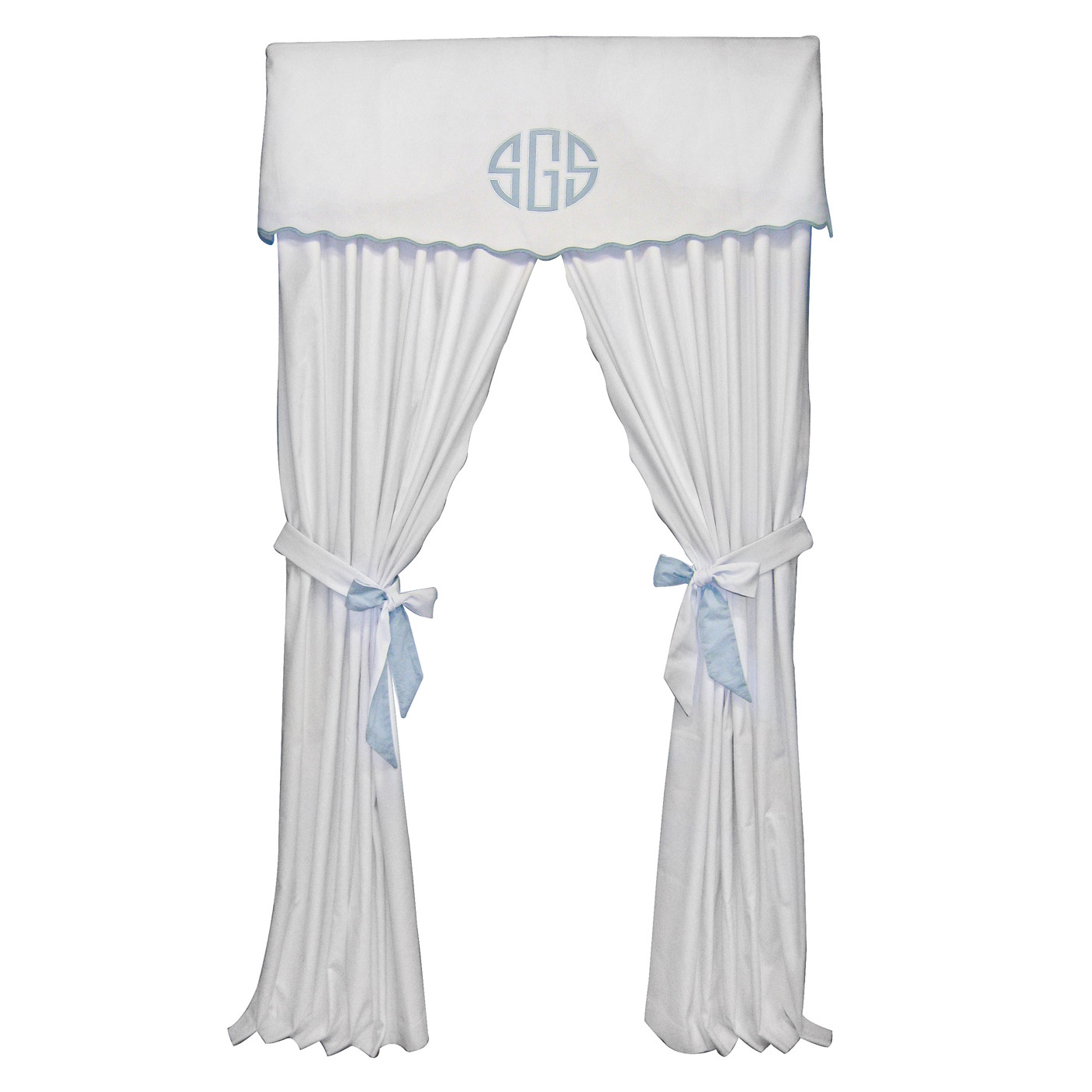 Baby Bedding Zone Palm Beach Blue Curtains with Tiebacks Giveaway ...