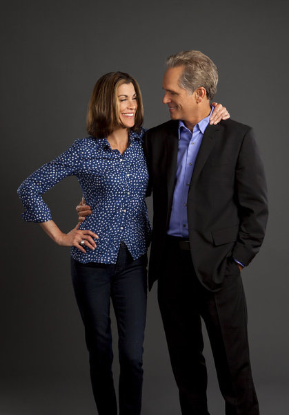 Wendie Malick and husband